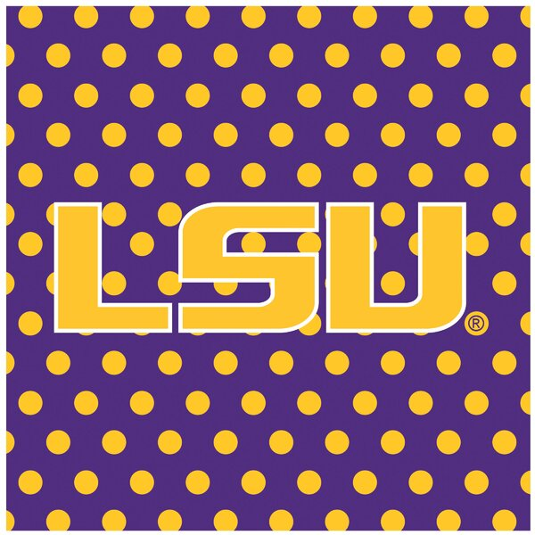 Louisiana State University Square Occasions Trivet by Thirstystone