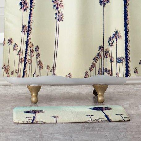 California Palm Trees Non-Slip Floral Bath Rug