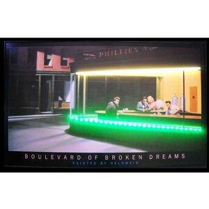Retro Boulevard of Broken Dreams Neon LED Framed Vintage Advertisement by Neonetics