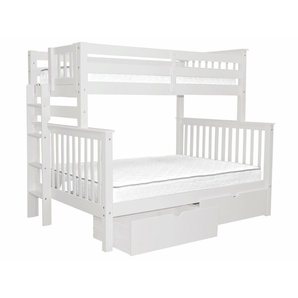 Treva Twin Over Full Bunk Bed with Storage by Harriet Bee