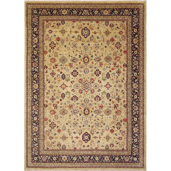 One-of-a-Kind Romona Hand-Knotted Gold Wool Indoor Area Rug by Isabelline