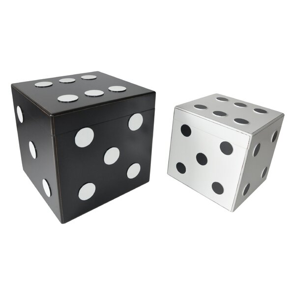 Pontiff Wooden Dice 2 Piece Trunk Set by Wrought S