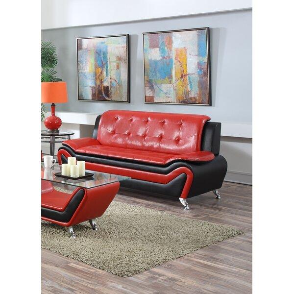 Maleah 2 Piece Leather Standard Living Room Set by Orren Ellis Orren Ellis