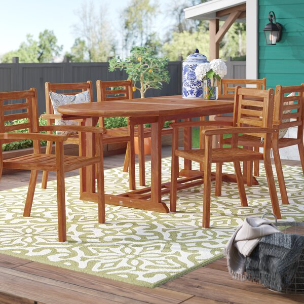 Cadsden 7 Piece Dining Set by Three Posts