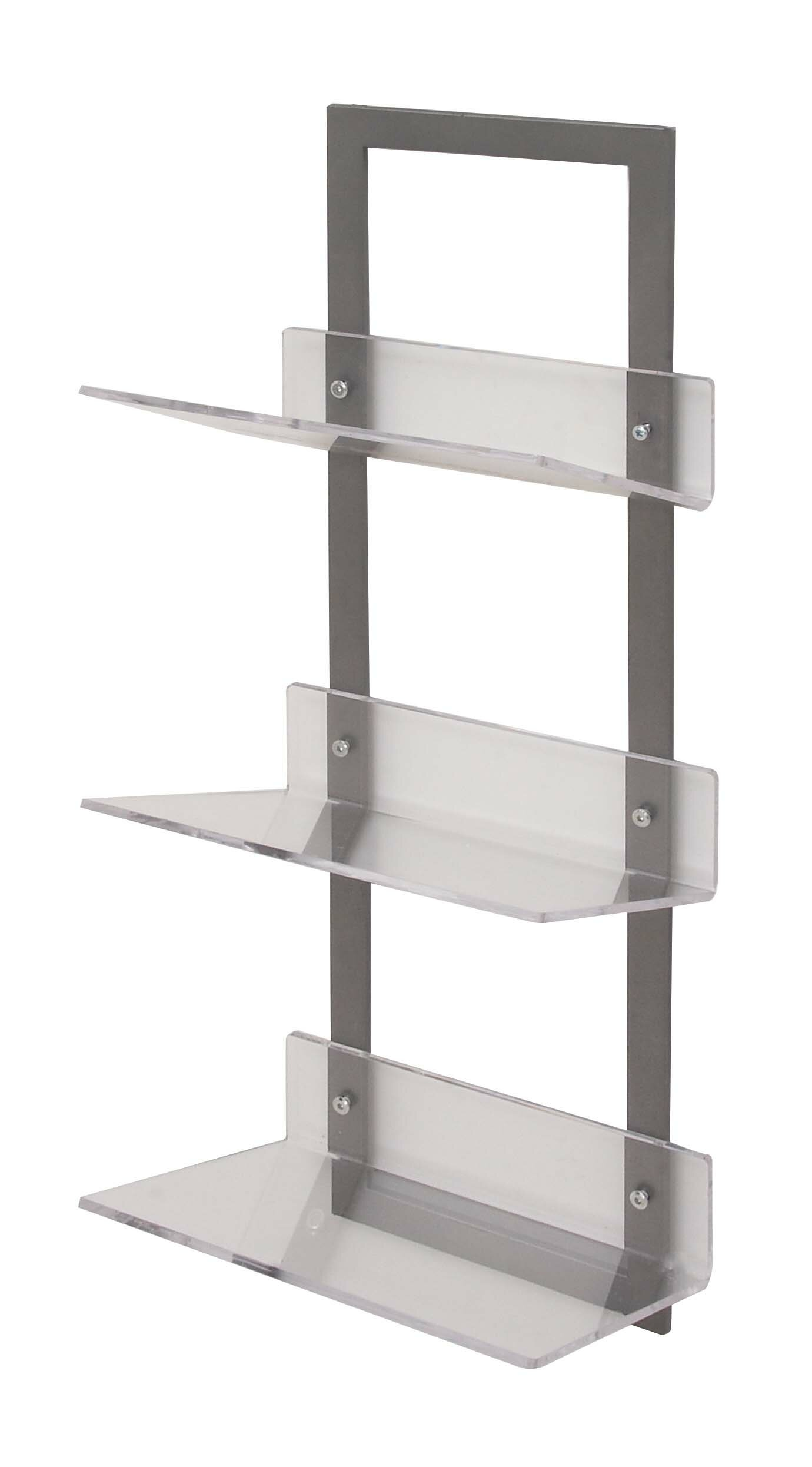 Whipton Metal Acrylic Floating Shelf