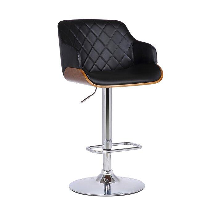 Remarkable Jaxxon Adjustable Height Swivel Bar Stool Uwap Interior Chair Design Uwaporg