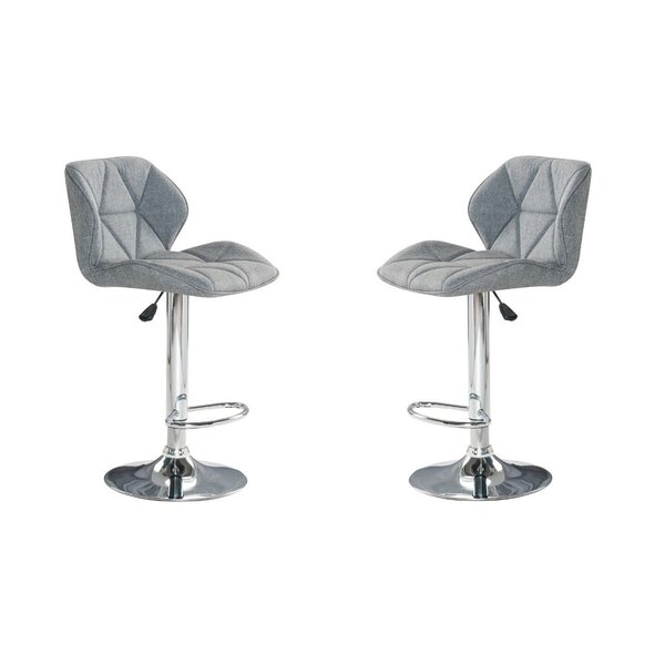 Herald Square Swivel Adjustable Height Bar Stool (Set of 2) by Ivy Bronx Ivy Bronx