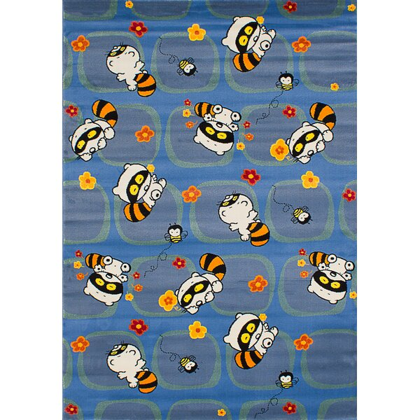 Luann Blue Area Rug by Zoomie Kids