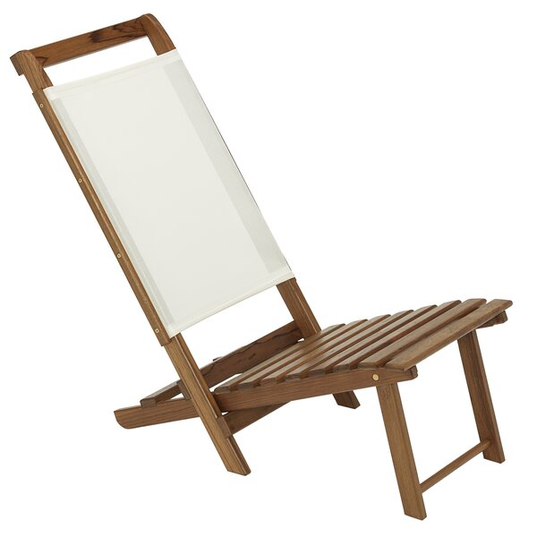 Everywhere Folding Beach Chair with Cushion by Whitecap Teak Whitecap Teak
