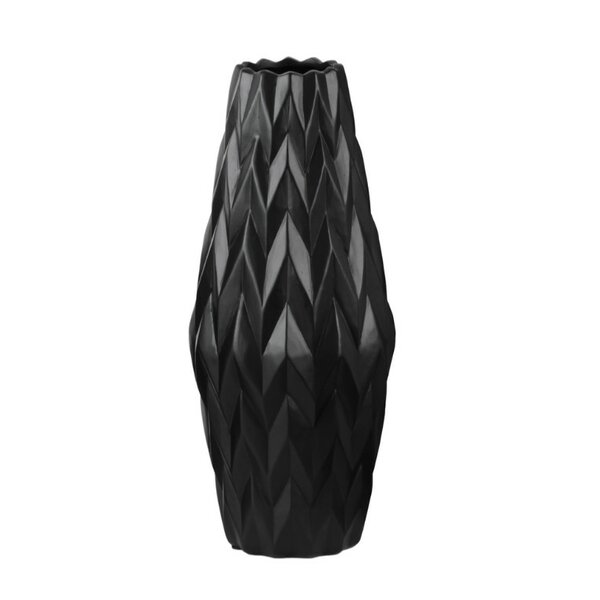 Chace Exquisite Table Vase with Embossed Wave Design by Ivy Bronx