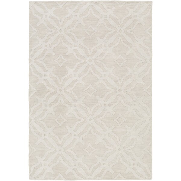 Dutchess Handmade Ivory Area Rug by Charlton Home