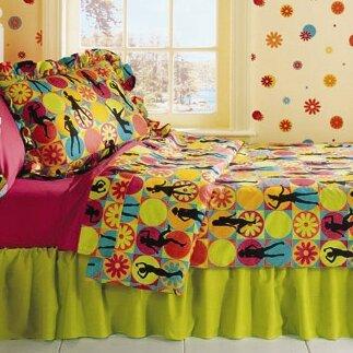Flower Power 3 Piece Twin Comforter Set by Room Magic