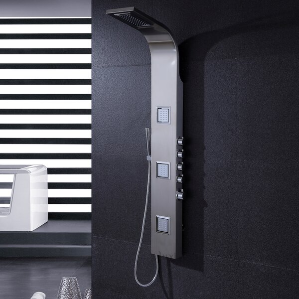 Massage Tower Shower Panel System by Luxier