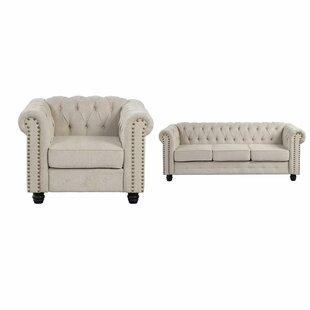 Dennard 2 Piece Living Room Set (Set of 2) by Alcott Hill®
