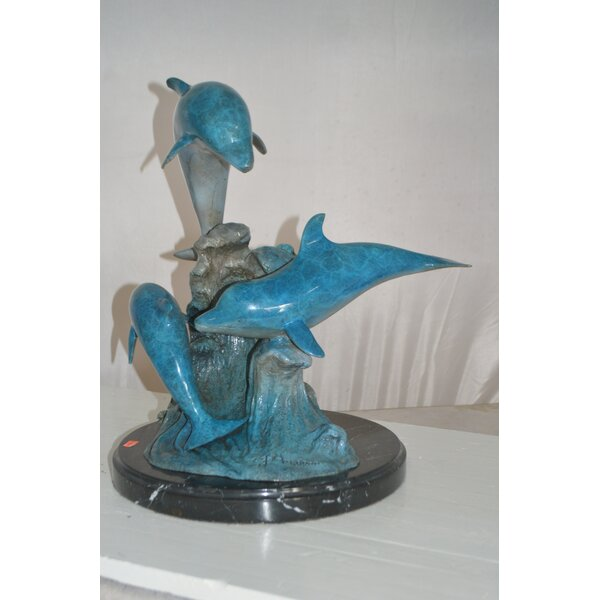 Delilah Three Jumping Dolphins Figurine by Rosecliff Heights