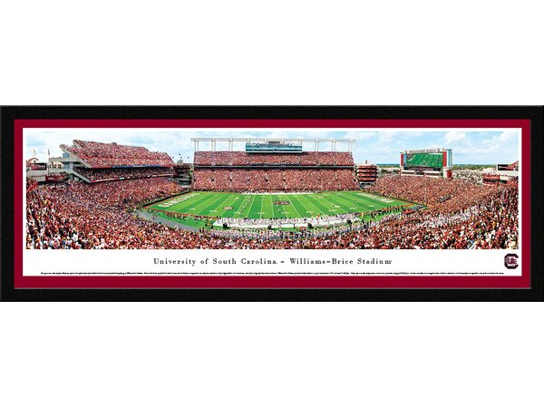 NCAA South Carolina, University of - 50 Yard Line by James Blakeway Framed Photographic Print by Blakeway Worldwide Panoramas, Inc