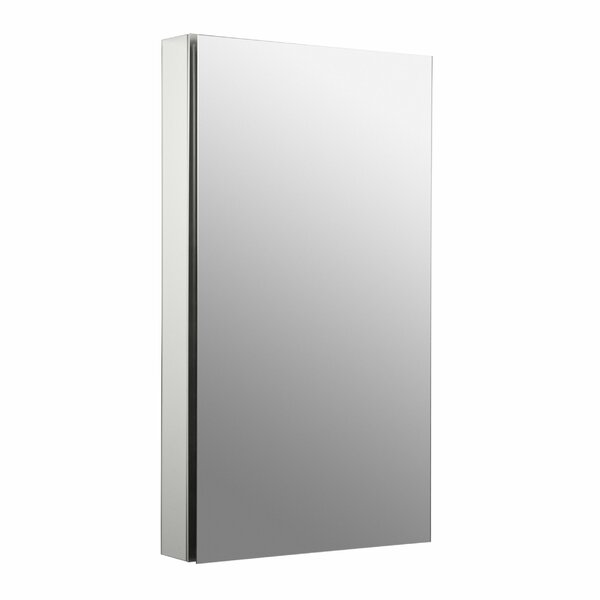 Catalan 20-1/8 W x 36 H Aluminum Single-Door Medicine Cabinet with 170 Degree Hinge by Kohler