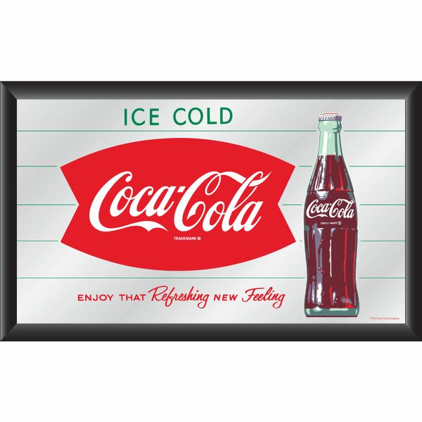 Coca Cola Refreshing New Feeling Framed Vintage Advertisement by Trademark Global