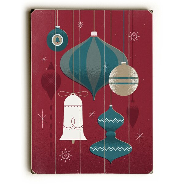 Ornaments Graphic Art Plaque by The Holiday Aisle
