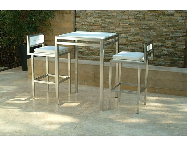 Talt 3 Piece Bar Height Dining Set by Modern Outdoor