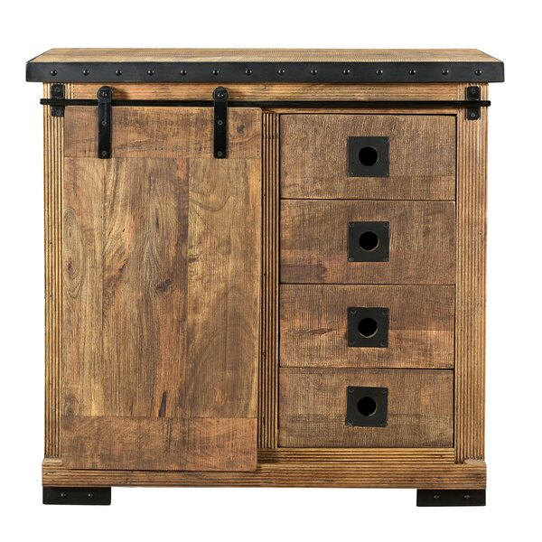 Glenmore Mango Wood 4 Drawer Accent Chest by Gracie Oaks Gracie Oaks