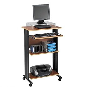 MUV Fixed Stand-Up Workstation AV Cart by Safco Products Company