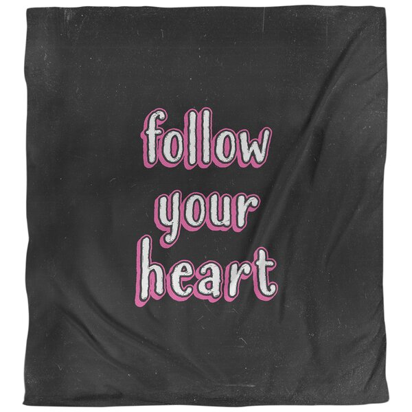 Quotes Follow Your Heart Single Reversible Duvet Cover