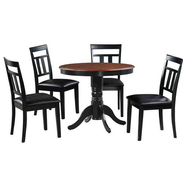 #2 Dahle 5 Piece Solid Wood Dining Set By August Grove Best Design