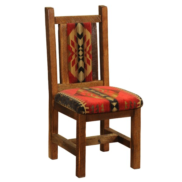 Barnwood Upholstered Dining Chair By Fireside Lodge