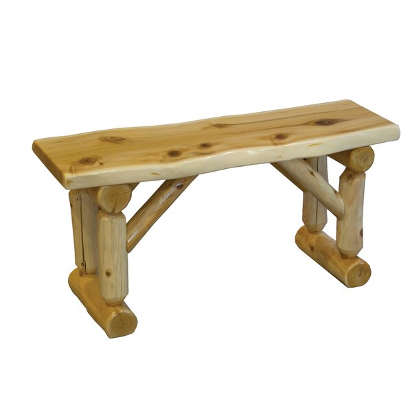 Grena Cedar Wood Bench by Loon Peak