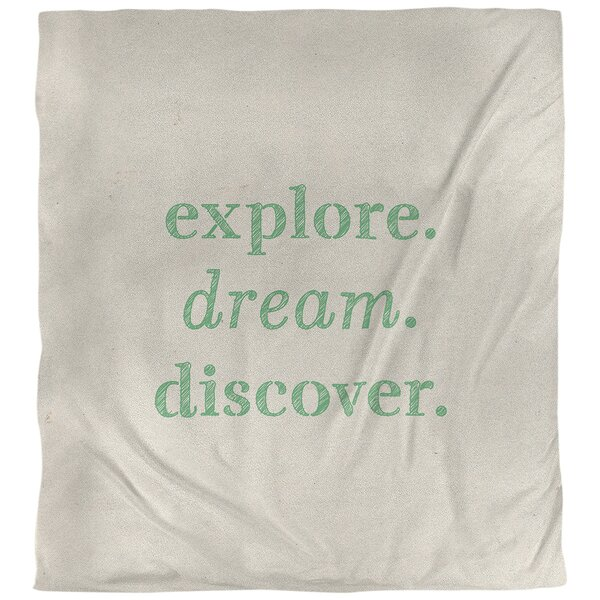 Quotes Handwritten Explore Dream Discover Single Reversible Duvet Cover