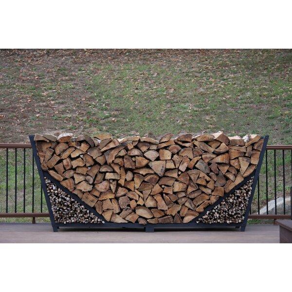 8' Slanted Firewood Log Rack With Kindling Kit By ShelterIt