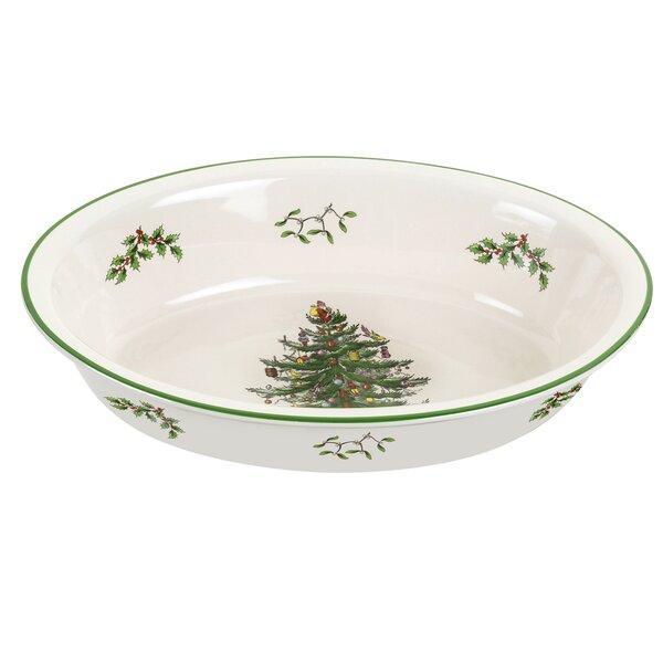 Christmas Tree Serve Rim Dish By Spode.