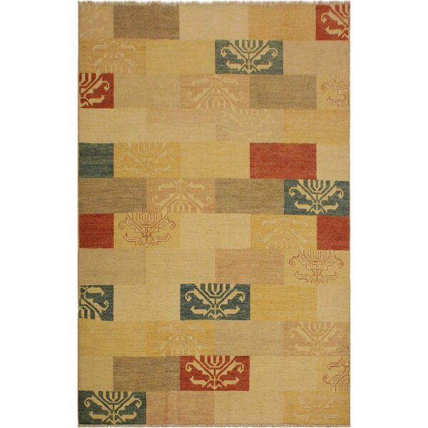 One-of-a-Kind Lyle Peshawar Hand Knotted Wool Tan/Light Brown Area Rug by World Menagerie