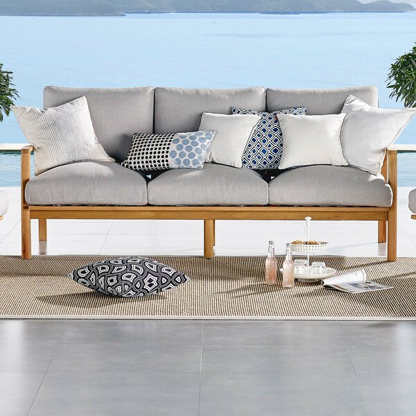 Reanna Patio Sofa with Cushions by Rosecliff Heights