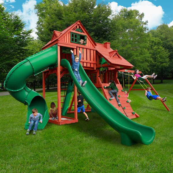 Sun Palace Deluxe Swing Set by Gorilla Playsets