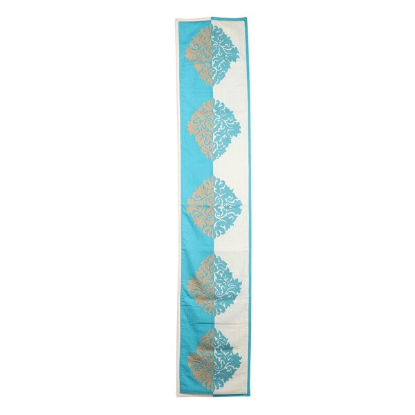 Crelake Majestic Fusion Chain-Stitched Cotton India Table Runner by World Menagerie