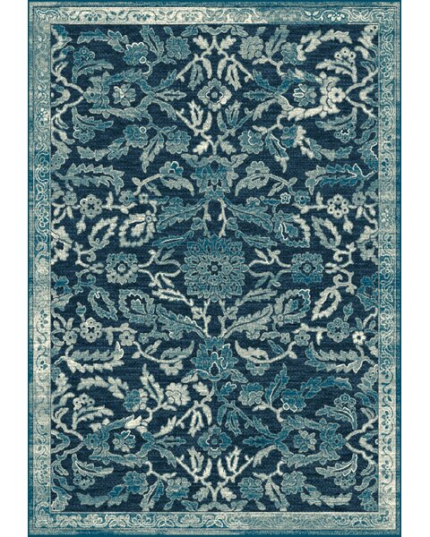 Swan Blue Area Rug by Fleur De Lis Living