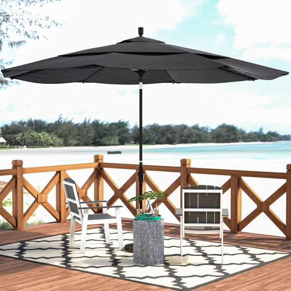 Keegan 11' Market Umbrella by Beachcrest Home