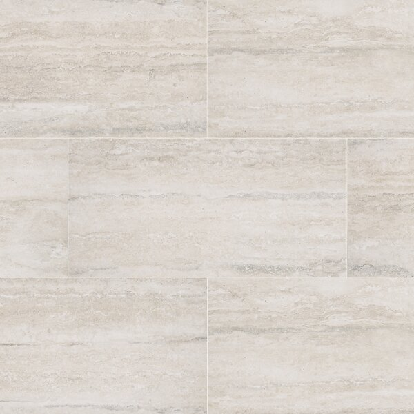 Veneto 12 x 24 Porcelain Field Tile in White by MSI