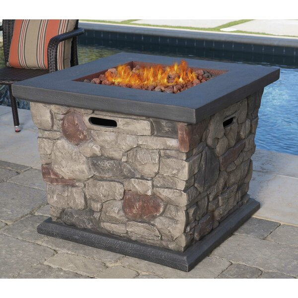 Cool Stone Propane Fire Pit Table by 17 Stories