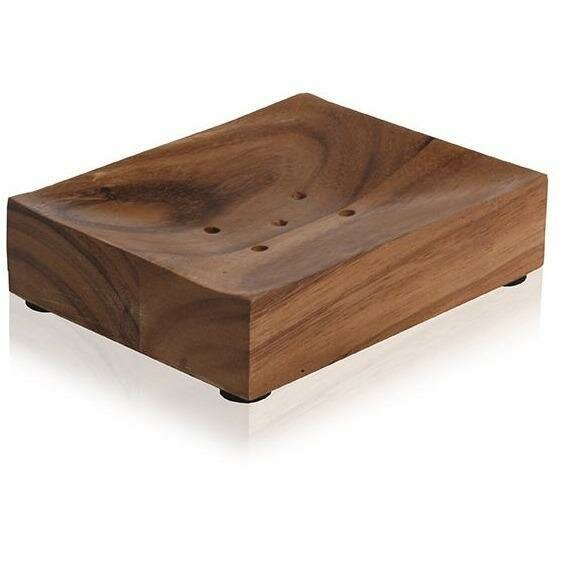 Triche Acacia Natural Wood Round Soap Dish by Union Rustic