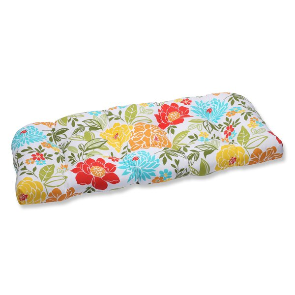 Spring Bling Indoor/Outdoor Loveseat Cushion by Pillow Perfect
