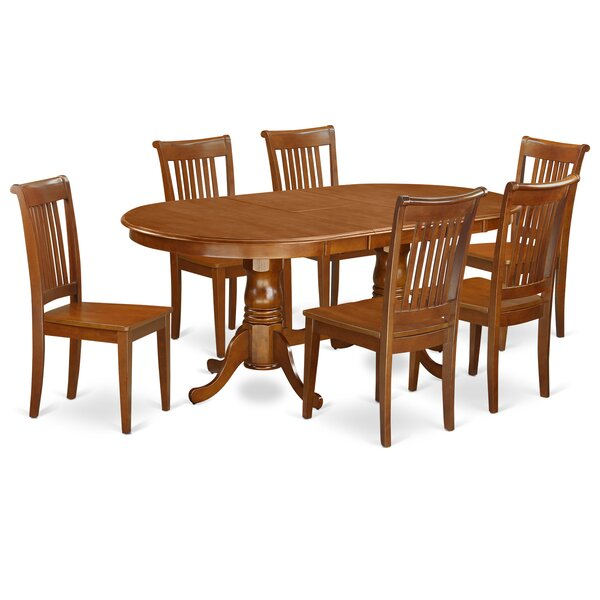 Germantown 7 Piece Extendable Solid Wood Dining Set by Darby Home Co