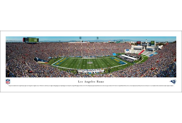 NFL L.A. Rams 1st Game in L.A. Photographic Print by Blakeway Worldwide Panoramas, Inc