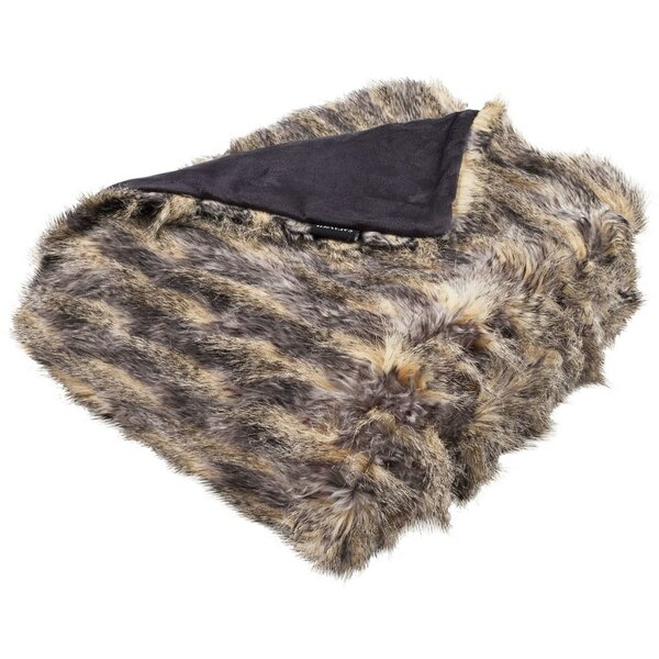 Hansley Pheasant Faux Fur Throw by Bloomsbury Market