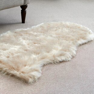 Sheepskin Beige Area Rug
