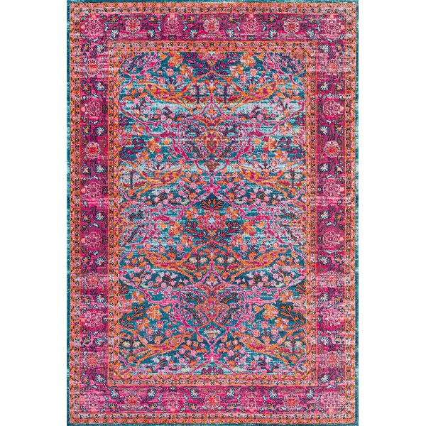 Knox Pink Area Rug by Bungalow Rose