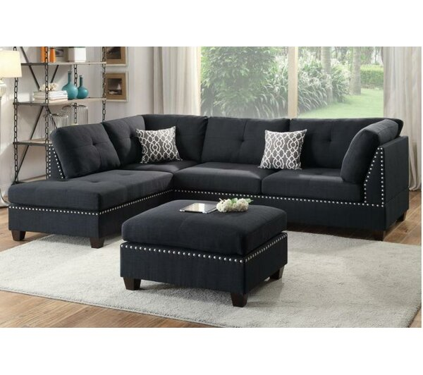 Looking for Tammy Reversible Sectional With Ottoman By A&J Homes Studio Reviews