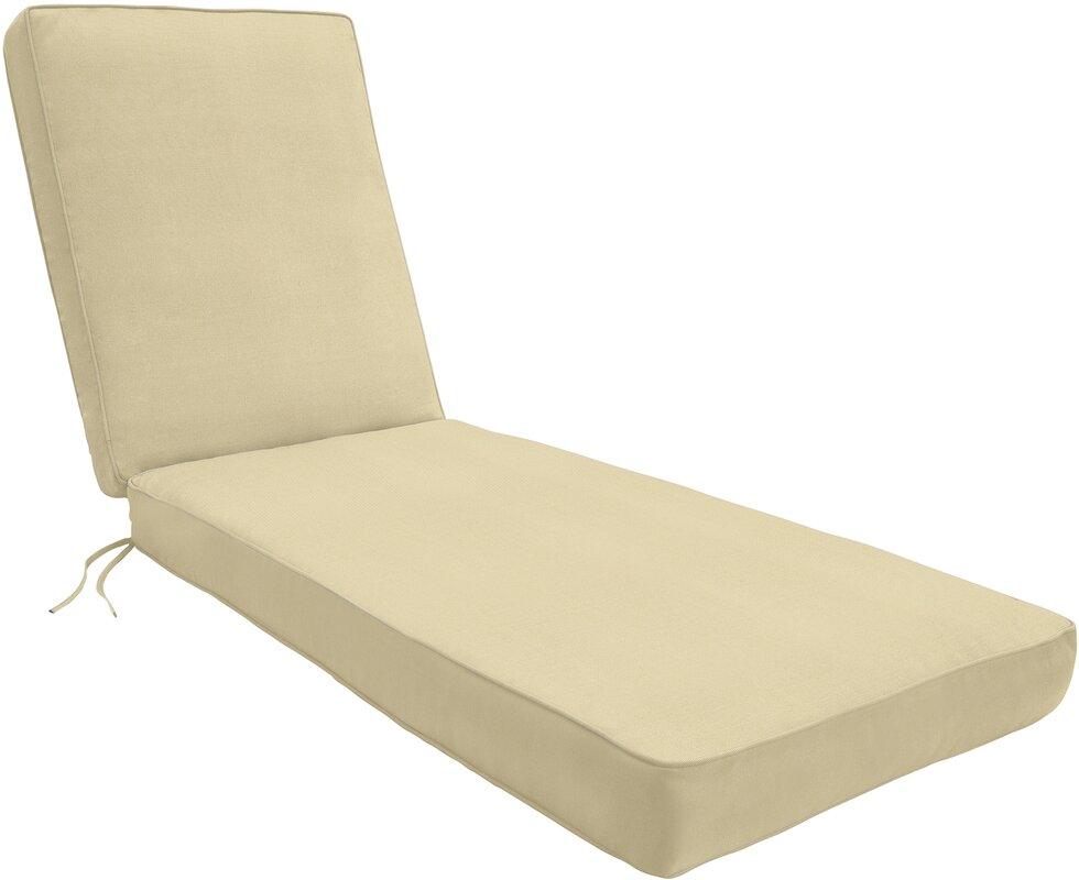 Wayfair custom outdoor cushions double piped outdoor for Chaise cushions sunbrella